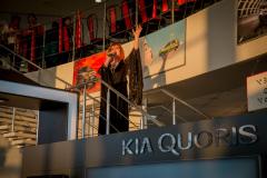 Презентация автомобиля  KIA Quoris в салоне официального дилера.  Певица Оксана Дроздова
