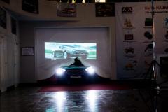 Презентация автомобиля  KIA Quoris в салоне официального дилера.  Выезд автомобиля.